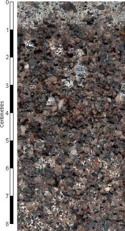 Contaminated river gravel