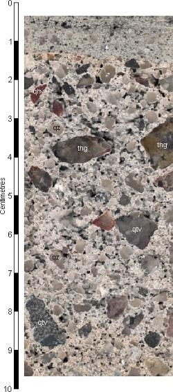 Granite-hosted mine waste